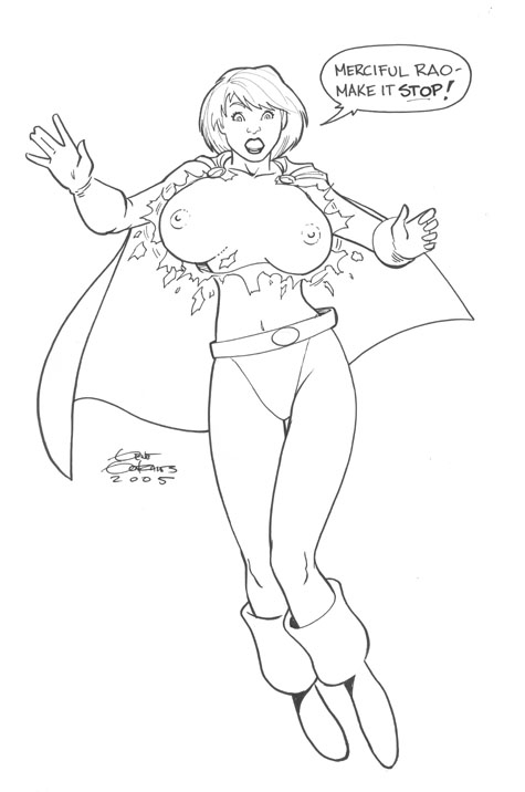 Power Girl by Gene Gonzales Comic Art