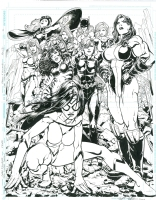 Women Liberators (Spider-Woman, She-Hulk, Storm, Invisible Woman, Black Widow, Tigra, and even more) - Freddie Williams II Comic Art