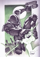 Venom with Green Lantern Ring - Thony Silas Comic Art