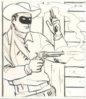 Alex Toth Lone Ranger coloring book illustration Comic Art
