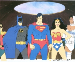 Super Friends  The Galactic Guardians  Main Title cel Comic Art