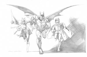 Kevin Nowlan Batman Family Comic Art