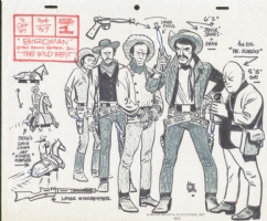 Alex Toth Jesse James Gang model sheet Comic Art