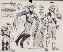Alex Toth Red Duke Model Sheet Comic Art