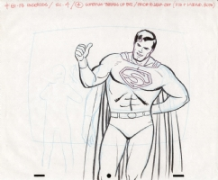 Alex Toth Superman Drawing Comic Art