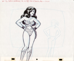 Alex Toth Wonder Woman Drawing Comic Art