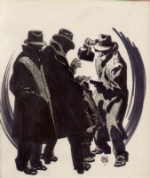 Alex Toth Gangster Stick-Up Original Art Comic Art