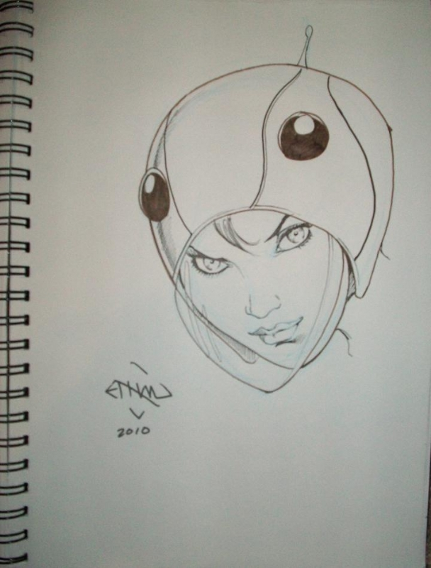 Jun from Gatchaman by Ethan Van Sciver Comic Art