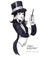 Zatanna by Chrissie Zullo Comic Art