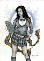 Ravenclaw Zatanna by Richard Cox Comic Art