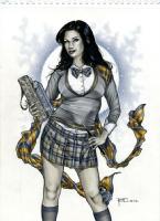 Ravenclaw Zatanna by Richard Cox Comic Art