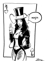 Zatanna by Kevin Zeigler Comic Art