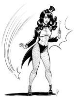 Zatanna by Megan Levens Comic Art