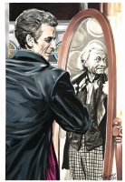 Peter Capaldi and William Hartnell by JK Woodward Comic Art