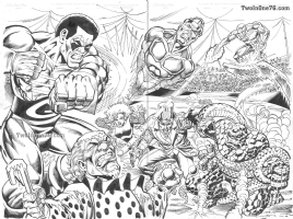Ron Wilson - Joe Rubinstein - Marvel Two in One 76 Commission (Inked) Comic Art
