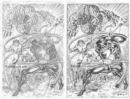 Ron Wilson - Joe Rubinstein - Captain Britain & Thing vs. Doctor Octopus Commission (Inked) Comic Art