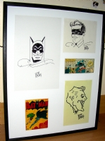 Batman Framed Comic Art