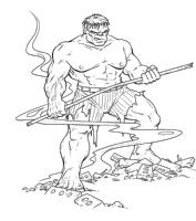 Jeff Purves Commission Sample Comic Art