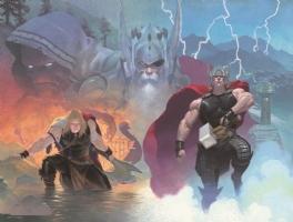 Thor God of War covers #1 & 2 by Esad Ribic Comic Art