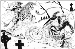 Ghost Rider Vs Western Ghost Rider by MC Wyman Comic Art