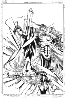 Thunderbolts #56 Cover by Patrick Zircher & Al Vey (Graviton & Moonstone) Comic Art
