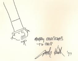 Jack Kent -Mr. Meebles and autograph Comic Art