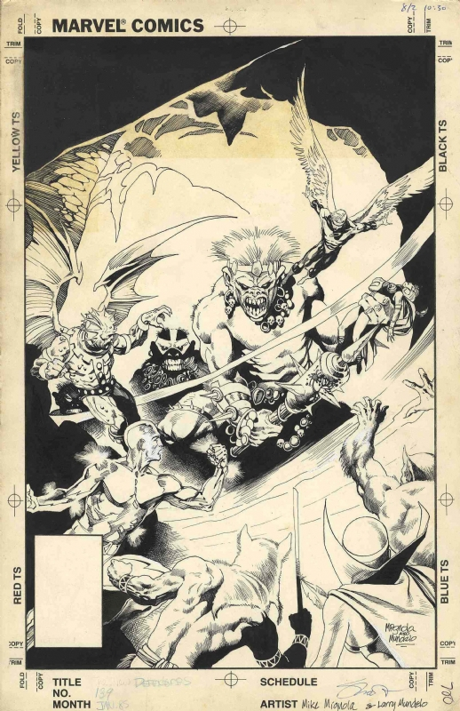 Defenders #139 Cover Comic Art