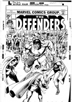 Defenders #21 Cover Comic Art