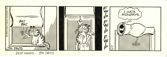 Garfield 09/18/78 Comic Art
