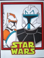 Commander Cody / Captain Rex - Tod Allen Smith Comic Art