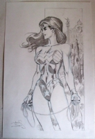 Alan Davis Wonder Woman Pinup Comic Art