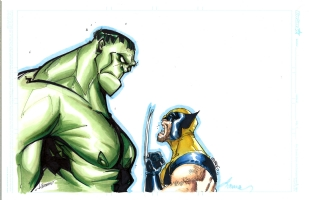 Hulk vs. Wolverine by Herrera, Ramos and Martin Comic Art