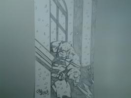 Batman snowfall , Comic Art