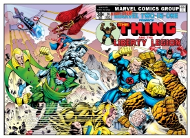 Marvel Two-In-One #20-One Minute Later Comic Art