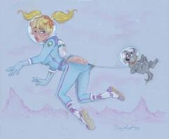 Dean Yeagle - 1950's Spacegirl Mandy Comic Art
