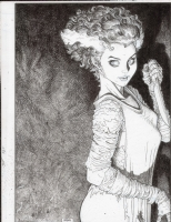Arthur Adams - Bride of Frankenstein Comic Art