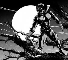 Black Panther Comic Art