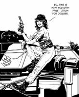 Lady Jay (From GI Joe) Comic Art