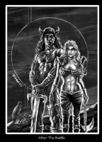 Red Sonja (and friend) Comic Art