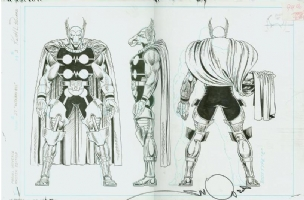 Beta Ray Bill from the Official Handbook of the Marvel Universe Master Edition #27 by Keith Pollard & Joe Rubinstein Comic Art