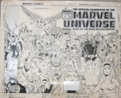 Official Handbook Of The Marvel Universe Deluxe Edition #19 Cover (Marvel, 1987) by Keith Pollard (Book of the Dead Part 4) Comic Art