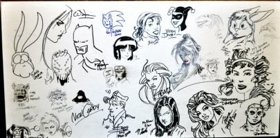 2000 San Diego Comic Con Jam Art Comic Art