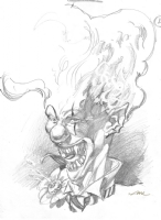Twisted Metal 4 - Sweet Tooth B Prelim Comic Art