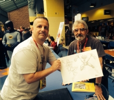 Me with Jose Garcia Lopez at WW Chicago  Comic Art