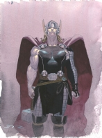 Thor painting by Esad Ribic Comic Art