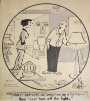 1961 Family Circus daily Comic Art