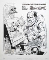 A Massimo Belardinelli Portrait Comic Art