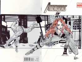 Avengers (2010 series) #1 2nd printing Sketch Cover - $100.00, Comic Art