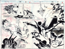 What If...? #57, page 02 & 03 (1994) - The Punisher - $650.00 Comic Art