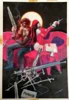 Elektra : Assassin #6 end splash - Bill Sienkiewicz Comic Art